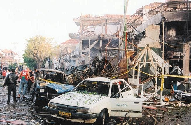 The 2002 Bali bombings: The deadliest act of terrorism in the history of Indonesia. 202 killed and 240 injured.