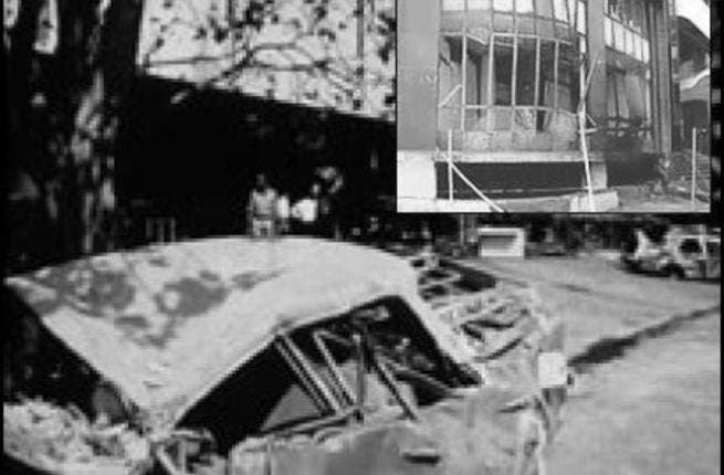 On March 12, 1993, a series of coordinated car bombings in Mumbai, India kill 257 and leave 1,400 wounded.
