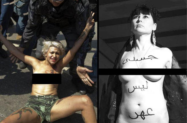 From Brazil to Germany, FEMEN-istas have answered the call to strip for Amina.