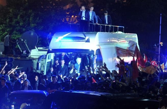 Anything they can do, Recep can do better. That seems to be the message from the Turkish Prime Minister, as he saluted crowds of Erdo-fans from his own private bus