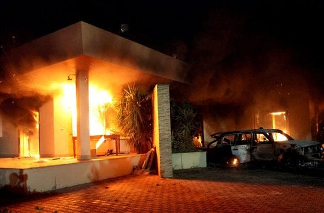 Time to take a hammering: after US lives were lost at the embassy in Libya, Mitt Romney told Obama he didn't understand that the attacks were part of a 'wider struggle'.
