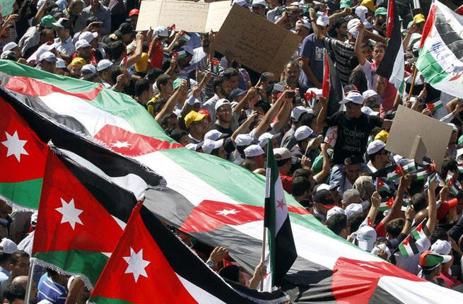 Jordan: King Abdullah replaced PM & parliament after protests by the Brotherhood & the youth