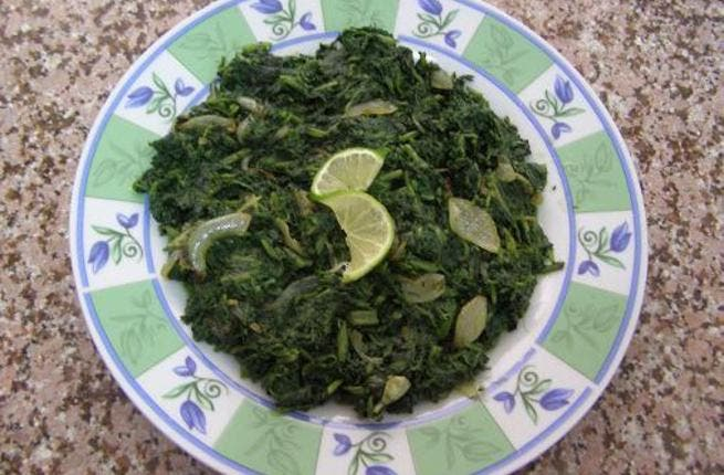 Khubaizi: While cabbage and swiss chard are seasonal and used in many dishes this winter season, this dish 'Khubaizi' uses another 