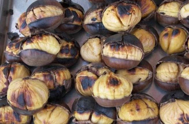 Castanah: Arabic for chestnuts, roasted chestnuts over the fire are a winter treat here as elsewhere. Sometimes added to rice dishes 