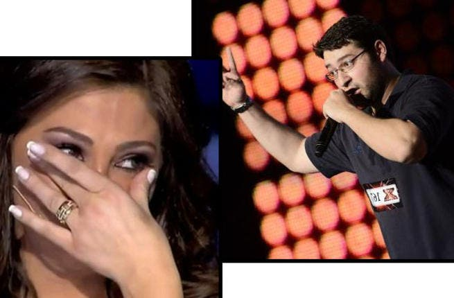 When The Voice fever took hold of the Mideast last year, all eyes were on Egyptian coach Sherine Abdel Wabab and her unpredictable mood swings. The X Factor offers its own emotional rollercoaster ride with the help of Lebanese sex-pot Elissa. Crying one minute and snapping the next, the scantily clad starlet seems to wear her heart on her sleeve.