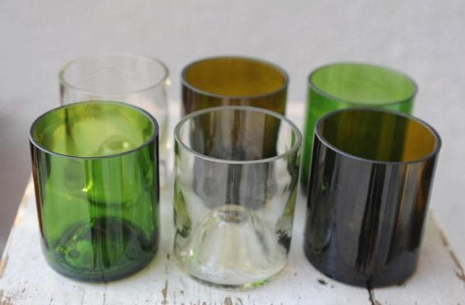 Chafic has his work cut out for him: the wine bottle mixed color set, a sample of the magic he creates.