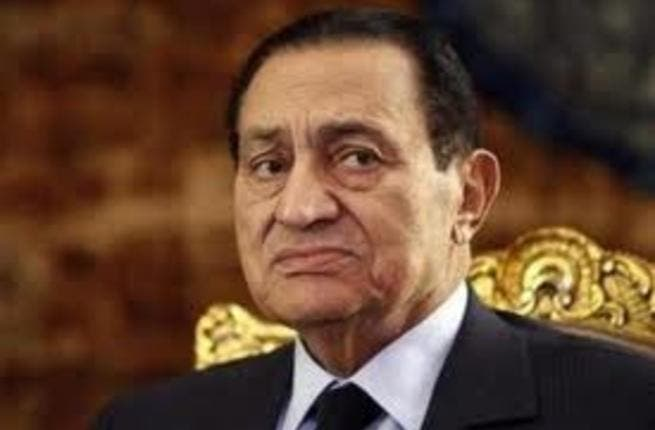 Mubarak sick bed: shows symptoms of depression remaining bed-bound most of the day, leaving his hair to grey.