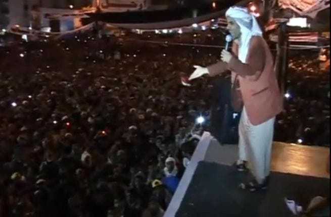 Music artist,  Muhammed Adroou'ay –outspoken in his lyrics since 2007, appears now on stage performing for the people in  Sana'a 'igleh' (get out!), dedicated once again to a leader who overstayed his welcome. Not getting the message.