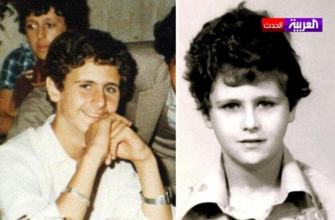 Baby Bashar: Can you imagine this cutie went on to kill 8,000, and counting, Syrians? Then again, his mother can't be too surprised considering she married Hafez Al Assad whose CV includes Hama 1982.