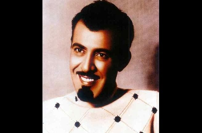 HM King Abdullah of Saudi Arabia (KSA) the younger. An exuberant version of the current popular King of KSA - can still be easily recognized thanks to his similar choice of look in the facial hair department. Same classic goatee-moustache combo.