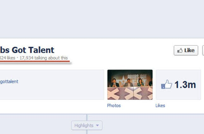 Facebook clocks the Arab enthusiasm in the air. The fans of the Arabs Got Talent Facebook page, ahead of Friday's first episode have exceed a million.