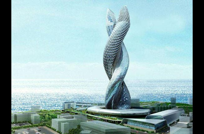 Future feature: King Cobra. It's yet to be built, but the infamous Cobra Tower in Kuwait, resembling two cobras embracing, has already caused a huge buzz on the internet. CGI firm (CDI Gulf International) came up with the never-seen-before snakey concept. Will this ropey skyscraper get built soon or will building plans spiral out of control?