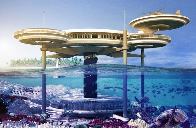 God of the Seas: We all dream of that magical feeling of living under water. Luckily, with man-made ingenuity, Gulf-made dreams do come true, and thanks to Dubai's Water Discus Hotel, you can soon spend the night like a guest at the Little Mermaid's household!