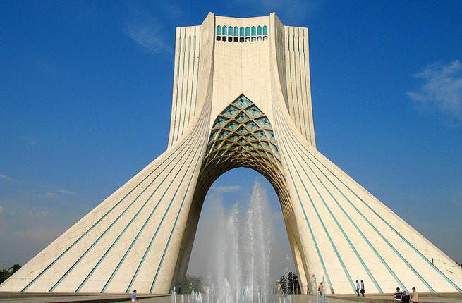 Central piece: Standing guard like a sentry at the gates of Tehran, Iran, is the impressive Azadi Tower, AKA Freedom Tower. More than the Arch de Triomphe, this sensational stalwart was completed in 1971 to commemorate the 2,500th anniversary of the Persian Empire, which quite fittingly became the symbol of Tehran.