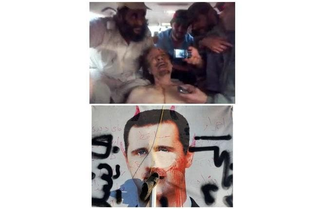 Back from the dead: Should Syria's Lion end up dead at the hands of his people or sentenced a la Mubarak style, would he gain the martyrdom that Gaddafi finally came to assume -- having a voice beyond the grave? Larger than (dictator's) life?