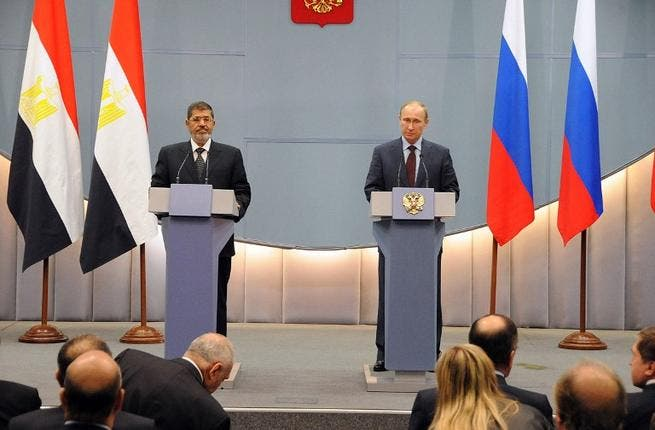 Embattled Egyptian President Mohamed Morsi visited his Russian counterpart Vladimir Putin in Sochi, cap in hand. If Morsi was expecting to strike an economic deal, he will have left disappointed. Instead, following the meeting, Putin called for a quick ceasefire in Syria.