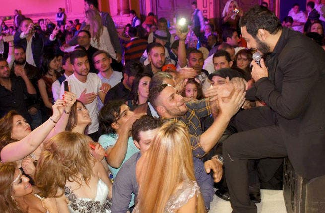 Arab Gangsta: Tamer Hosny - the hippest Egyptian on the block - had his pick of venues this NYE. He plumped for Jordan where he rocked Le Royal hotel. Grinding the rumor mill all year with a marriage and collaborations with Snoop & Akon, and racking up YouTube views to give Psy a run for his money, he wished fans 'peace and prosperity' for 2013.