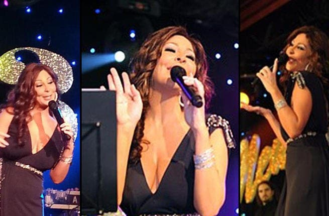 Show me the money: The ever-elegant Elissa performed alongside Iraqi megastar, Majed al Muhandis, at the Ritz Carlton Hotel in Dubai. Her dulcet tones got the crowd going and you would hope they would, as the star was paid $150,000 for the show.