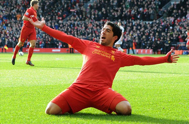 Fast & furious: Liverpool and Uruguay's shared treasure striker, Luis Suarez, has experienced Jordan's 'speedy' players: 'Jordan has fast outfield players and if you leave space, they could show their quality.' (They left scant impression on Suarez who admits remembering little of his run-in with JO's under-17 national squad back in 2007.)