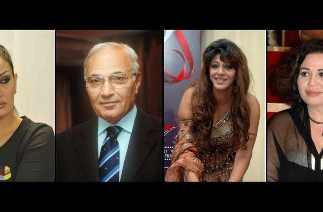 Ahmad Shafik, the closest thing to the old regime, has strong support in celebrity world. Actress Hala Sedki throws in her lot with this ex PM because
