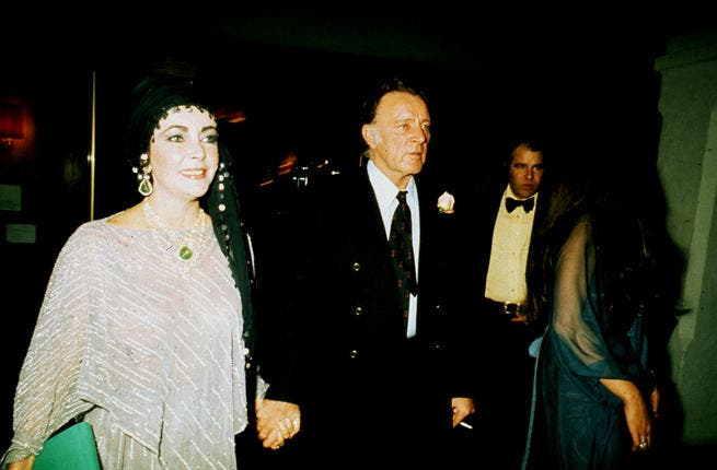 Elizabeth Taylor and Richard Burton in Israel, during their second marriage, circa 1976. Taylor was hailed an ardent Zionist upon her passing by the Zionist Organisation of America.