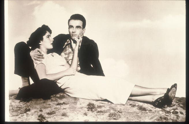 Known for men as much as her acting, she often mixed the two, courting actors. Actors Elizabeth Taylor And Montgomery Clift pose In an old still from the film A Place In The Sun