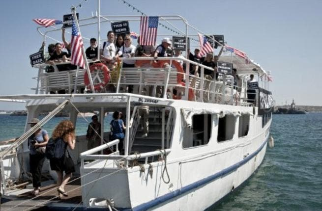 Flotilla fights back: The coordinator for the French boat, MP John-Paul Lecoq, announced that the flotilla organizers
