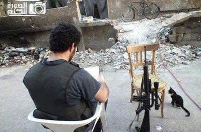 This FSA kitten, Yasmeen, is on sniper-duty.