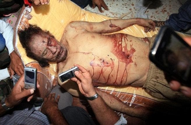 Image result for death of muammar gaddafi