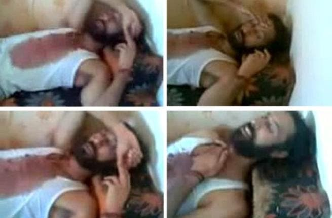 A collage of shots from a video taken from the mobile phone of a NTC fighter shows Mutassem Gaddafi, son of Libya's fallen leader Muammar Gaddafi, lying on a sofa after his capture and before his death in Sirte on October 20. He was captured alive and last seen smoking a cigarette and finally lying down on a sofa, blood stained but quite alive.