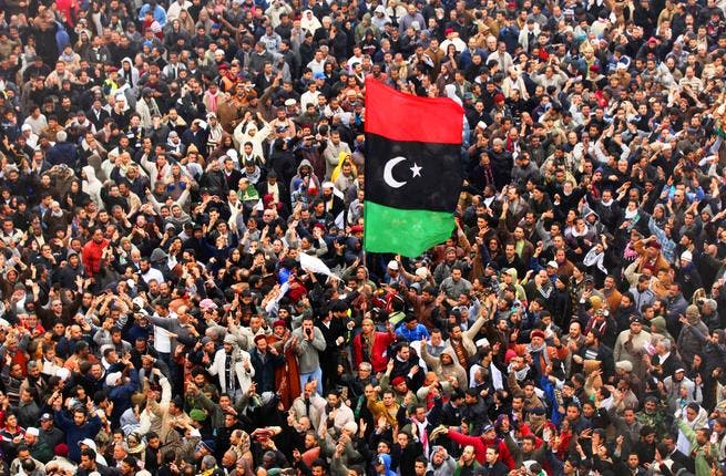 Feb 17: An awakening reverberated across Libya, concentrated in Benghazi, where mass protests spawned the Feb 17th (Day of Revolt) movement. This crew of enthusiastic revolutionaries moved hesitantly at first, their front line shifting forward then back, til their amateur forces gained control of the city- never to be regained by Gaddafi.