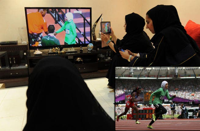 "Setting the pace: The first female Saudi athletes competed at the Olympic Games in London, gaining standing ovations from the crowds. Hailed as heroines by some and ridiculed as ""Prostitutes of the Olympics"" by others, the women were nevertheless pioneers in the history of sport in the Arab World."