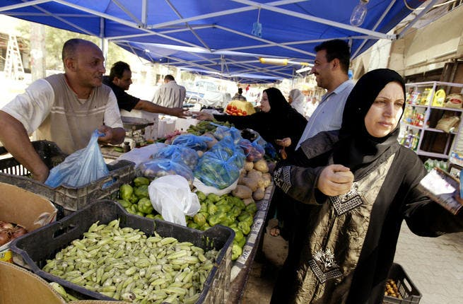 Daily life is more costly than ever. Extortionate prices in the fruit & vegetable market aggravate locals who were used to living comfortably in a country rich in resources. Consider the basic price of 'tamatim' (tomatoes), risen to 1,500 IQD/ kilo (~1.3 USD). The basic price of 'tamatim' was 250 IQD previously. 'Fool' (broad beans) = 4,000 IQD.