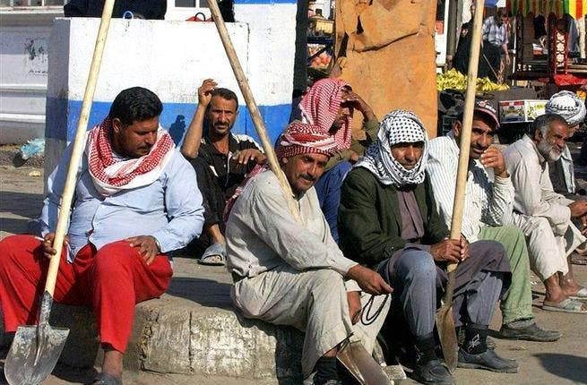 Iraqis want jobs. Amongst other festering problems in this country abundant in natural resources & economic potential, is a high unemployment rate. Among the population aged upward of 15 yrs, the rate is ~ 28.1%. Underemployment is another issue, where the economically potentially active work for a limited number of hours instead of full-time.