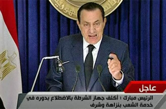 Mubarak made televised appearances before his hand was forced. In 3 addresses, he stayed defiant, unwilling to relent power to the people. His final Feb 10 speech did not foreshadow his resignation, but did make the concession to delegate more power to his VP during his last term. Anything less than his exit was not to be a crowd winner though.