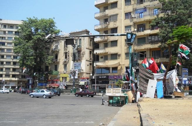 All quiet on the Tahrir front? This Tahrir effigy says otherwise. While the square looks serene, there are rumblings of discontent close to the surface. Mubarak's cronies have retained positions and SCAF are still having an underhand role in this new democracy. The old regime hangs perilously over the revolution. (image source: Melissa Carlson)