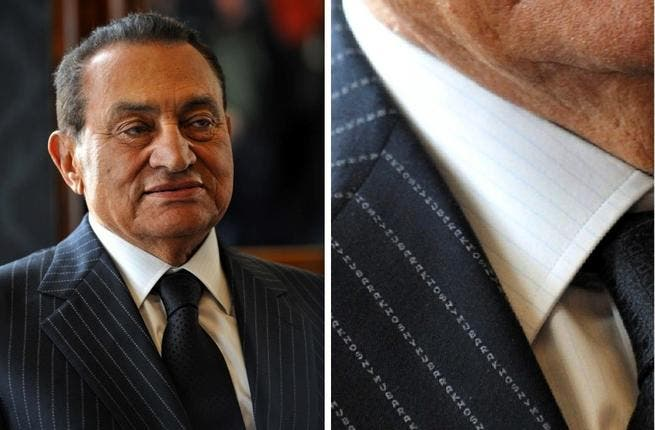 From Savile Row to (desired verdict by some) Death Row?? Once, not so long ago, Mubarak mindful of his