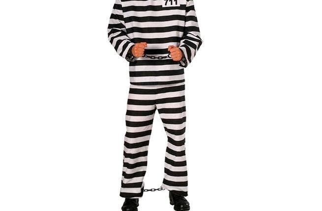 Oh how the mighty do fall and land flat on their backs: Times have been better for Mubarak, as right now we're more likely to see him clad in this typical convict get-up, characteristic