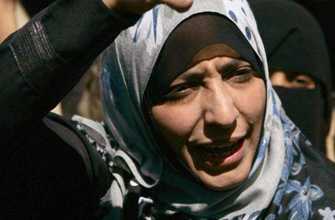 Tawakkul Karman- Yemen's revolutionary extraordinaire rose to public acclaim for her contributions to both Arab women-kind and the Arab Spring. While sharing the Nobel Peace Prize with 3 women, this didn't  diminish the scale of the victory for a buzzing Arab population - proud for one of theirs to join the select space of 12 females before her.