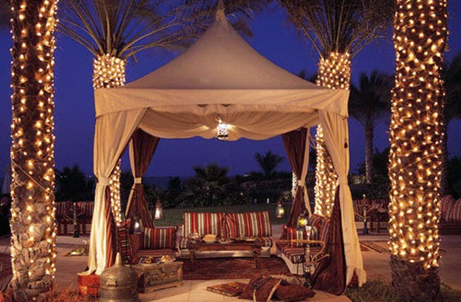 With some Muslims regarding shisha as an ''intoxicant' for its smokey properties, indulging in some hubbly bubbly might be hard to do during Ramadan. So why not head to decadent Dubai and set up shop in a luxury shisha tent, like this one at the Ritz Carlton to get your Ramadan fix? (courtesy of Ritz Carlton)