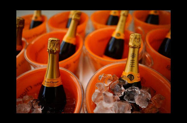 Although alcohol is forbidden in Islam, some prefer to turn a blind eye to this 11 months of the year. So as to have some alcohol fuelled memories during an otherwise dry month, why not indulge in a cheeky cocktail? Put the Moet on ice, habibi! (Getty/Alan Crowhurst)