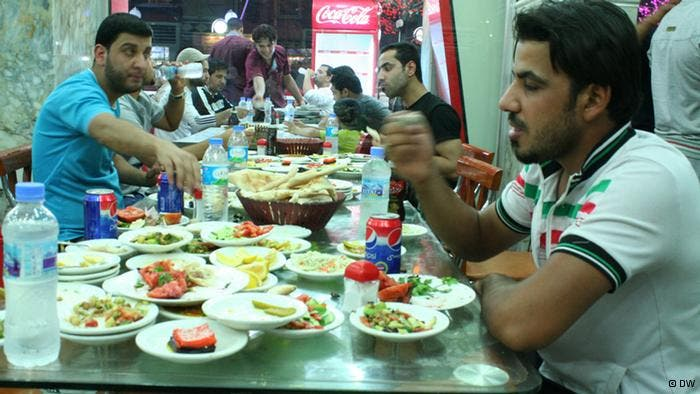 Ramadan in Iraq,- is uber-strict, leaving out Muqtadā Ṣadr's fatwa that lets smokers fast with impunity. Once upon a time, eateries were cordoned off from sight, to allow Iraq's non-fasters, including Jews & Christians - to indulge. Today, a more conservative climate makes it taboo if not illegal to be seen drinking or eating.