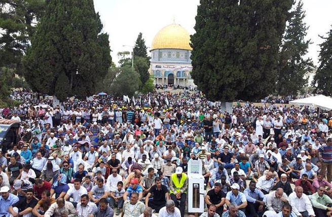 Thousands of Palestinians pray in the hallowed grounds of the Dome of the Rock, giving  the prayers an extra-holy touch as they celebrate Ramadan.
