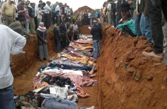 Mass graves are discovered in Idleb and Homs, with rumors of them elsewhere, ahead of the emergence of the Houla massacre story.