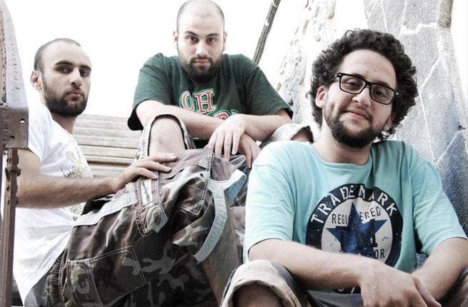 """Trio LaTlateh lay heartfelt tracks over funky, distinctive beats, all deeply infused with politics. Breakout tracks were """"Boom Boom Bam"""" (not to be confused with Black Eyed Peas"""