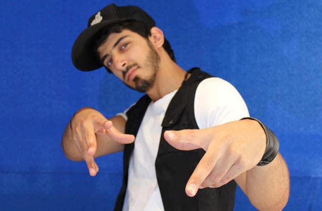 Keepin it real: Esmaeel Tammr AKA MC Twistar is a true gangsta from warzone the ghetto . He's a force to reckon with and won't suffer anyone dissing his Syria. The rapper doesn't mince his words when bashing fellow Arab countries or homeboys for claiming to want to help the Syrian people.