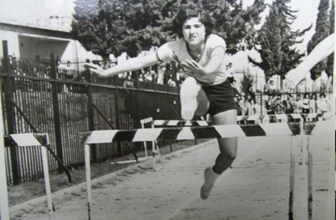 Syria's obstacle-defying girl- Silvana Shaheen was a Syrian hurdler that didn't think twice about representing her country with knees exposed and hair aloft. In the early '70's, this Homs native scored the national prize for both 400m and 100m hurdles multiple times.