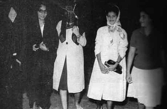 Oman's hidden jewels-  A Gulf state in the 60's featuring women coming out unescorted, at night without hijab and sporting skirts!?? Believe it or not, this rare photo captures the norm for style and freedom for ladies in this now-covered country.