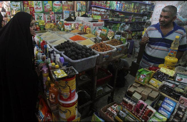 A delectable array of Iftar options:  A local supermarket in Baghdad selling traditional Iraqi food items. July 9, 2013 (AFP PHOTO/AHMAD AL-RUBAYE)