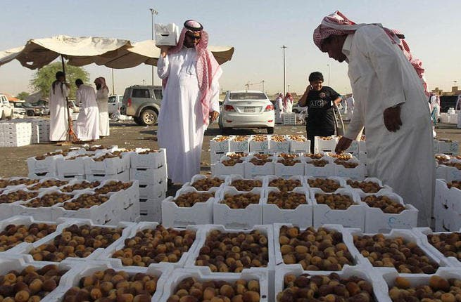 The Saudi capital ushers in the holy month with a holy amount of dates. Traditionally the sweet dried fruit constitutes the first bite taken to break the fast. The native fruit of Saudi Arabia gets distributed around the region (Image courtesy of Alriyadh)